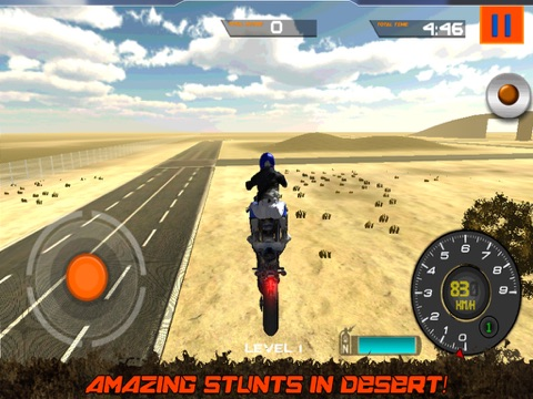 Crazy Motorcycle Stunt Ride simulator 3D – Perform Extreme Driver Stunts with Motor Bike on Dirt-ipad-3