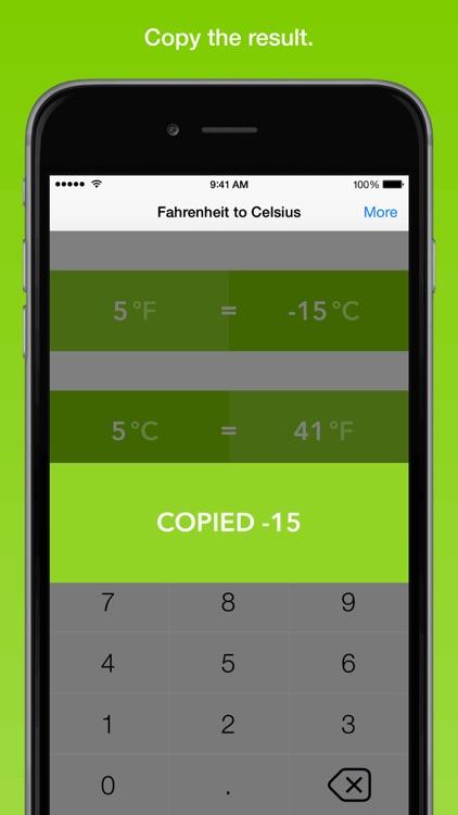 Fahrenheit To Celsius, the fastest temperature converter