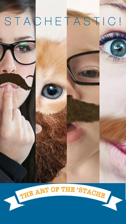 StacheTastic! Art of The Mustache Beard Photo Sticker Pic Booth FREE screenshot-0