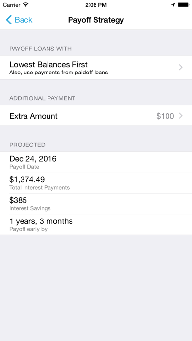 Debt Strategy Lite screenshot four