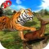 野生虎丛林狩猎3D - 真正的西伯利亚野兽攻击的鹿在Safari动物模拟器游戏