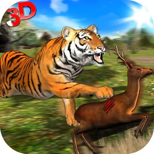 Wild Tiger Джунгли Хант 3D - Real Сибирский Beast Атака на оленях в Safari животных симулятор