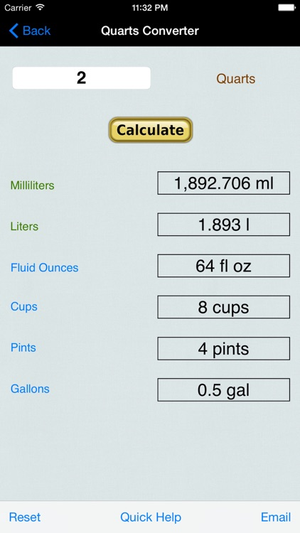 Volume & Weight Converter: Liter, Gallon, Ounces (US Units and Imperial), Cubic Feet, Yards, & Meters screenshot-3