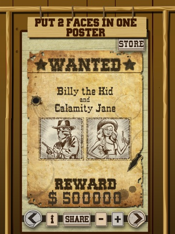 screenshot 2 for wild west wanted poster maker make your own wild west outlaw