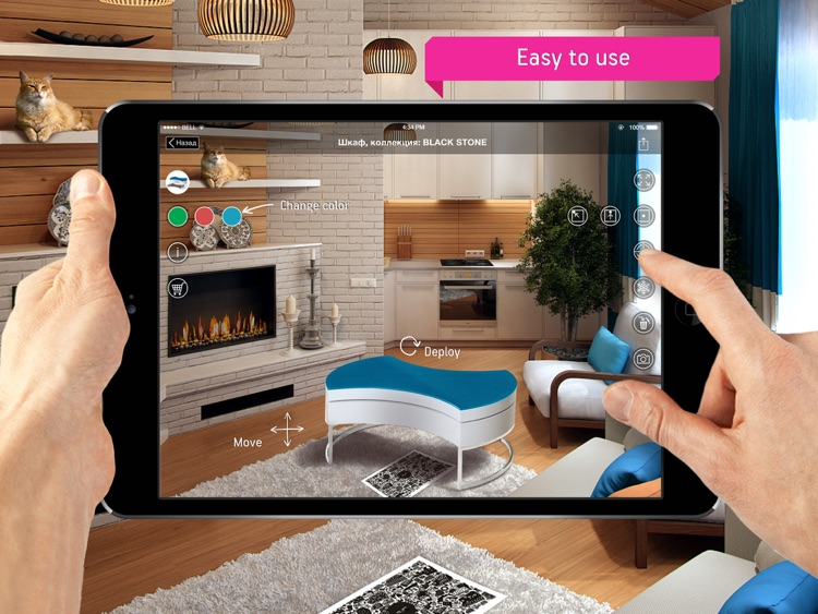Fingo Furniture - Augmented Reality Interior App. Catalogue 3D