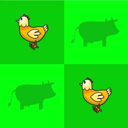 Preschool Memory Match - Farm and Jungle Animal Sounds