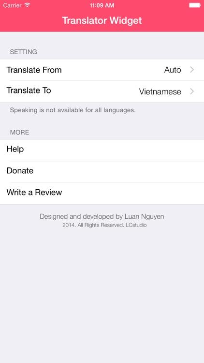 Translator Widget