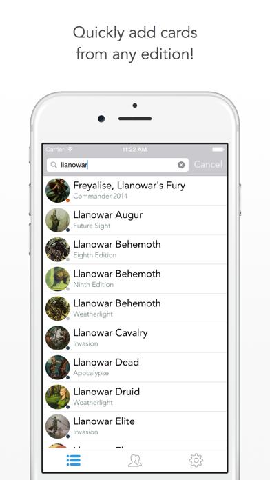 Wishlist for Magic: The Gathering Screenshot on iOS