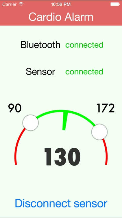 Cardio Alarm: background voice alarm for bluetooth sensors