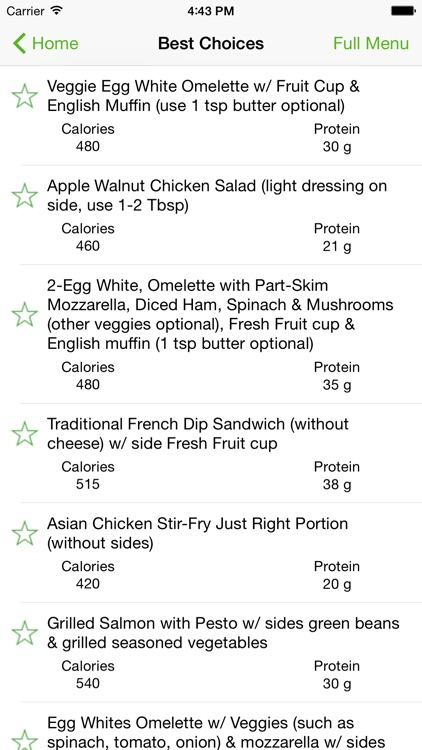 Zestar® Menu Pilot™ - Navigate Restaurant Nutrition screenshot-1
