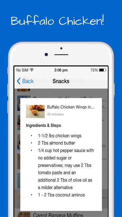 Paleo Snacks Recipes - Breakfast, Lunch and Appetizers with quick, easy and simple meals. screenshot-3
