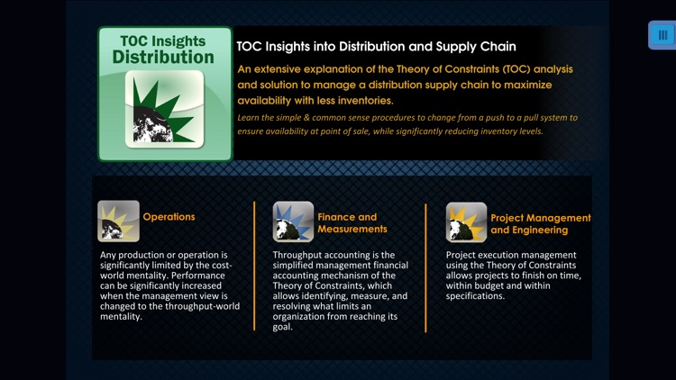 TOC Insights into Distribution and Supply Chain: the Theory of Constraints solution by Eliyahu M. Goldratt. screenshot-4