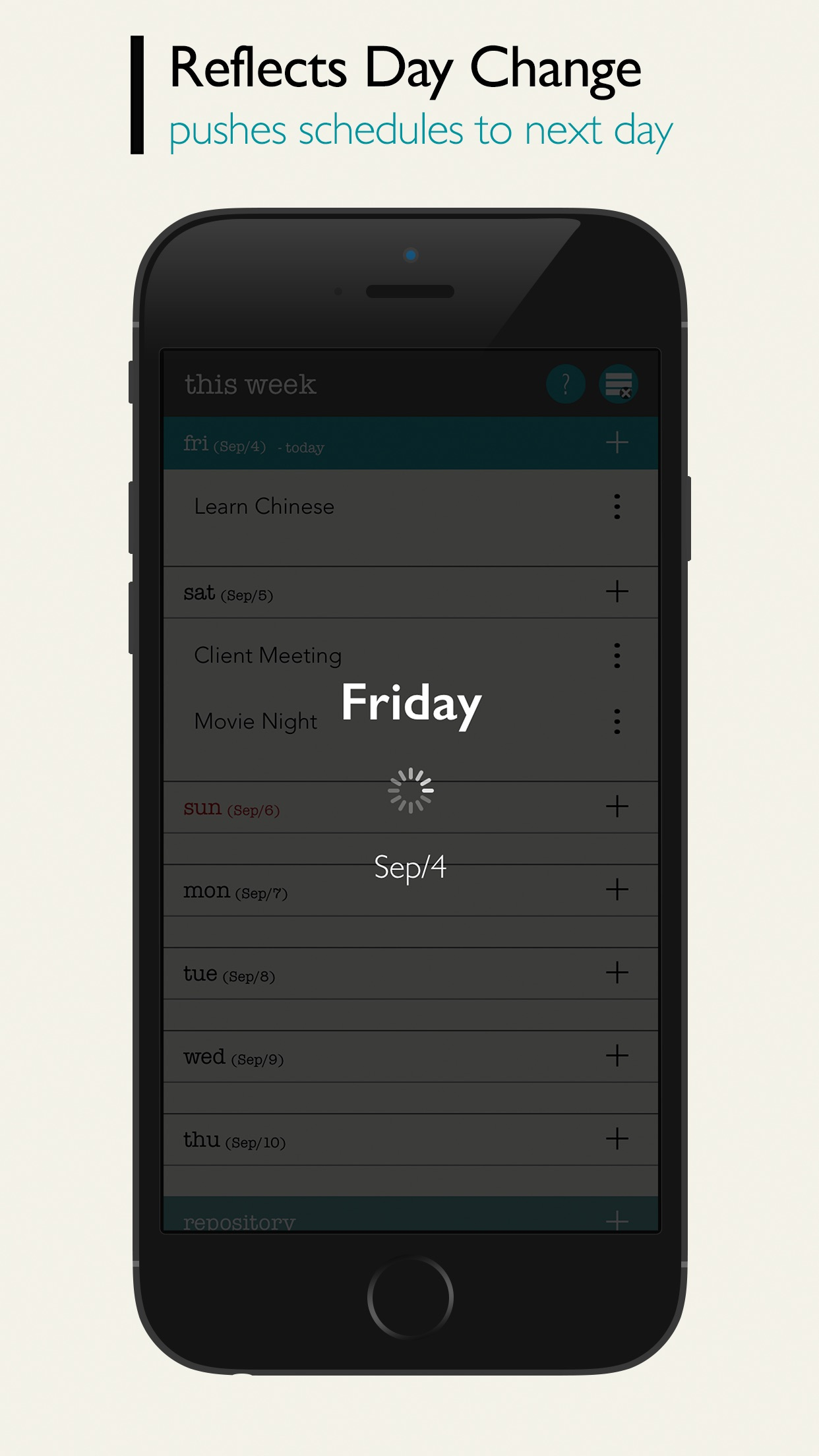 Screenshot do app This Week - Weekly To-Do List
