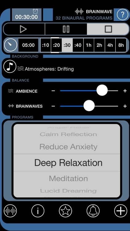 Brain Wave ™ - 32 Advanced Binaural Brainwave Entrainment Programs with iTunes Music and Relaxing Ambience screenshot-4