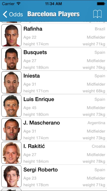 Spanish Football league 2015/16 Odds,Fixtures & Results screenshot-4
