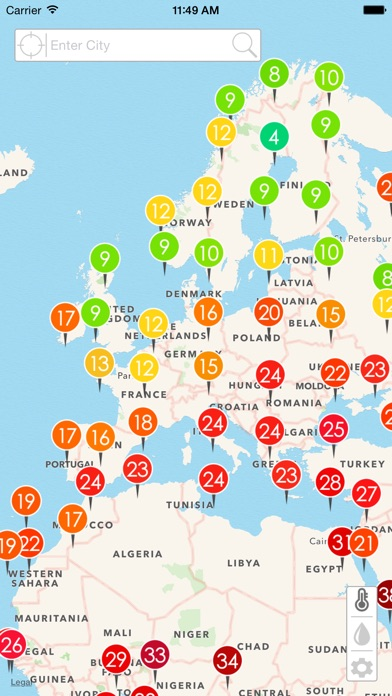 Realtime Weather Map.Weather Map Real Time Weather From Netatmo Stations By Imre