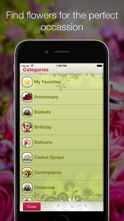 Mobile Florist: Flower Delivery - Order & Send Fresh Flowers from Anywhere using Local Florists! screenshot-3