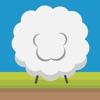 最棒的小羊欢乐的跳跃奔跑在神奇的空中小岛之间