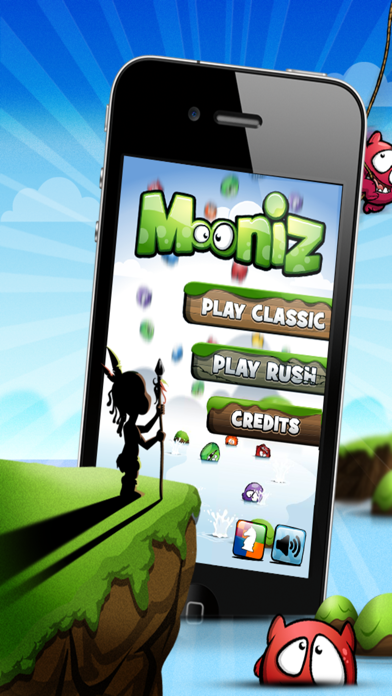 Mooniz Pro - Tapping and Matching Little Moon Monsters With Friends Screenshot on iOS