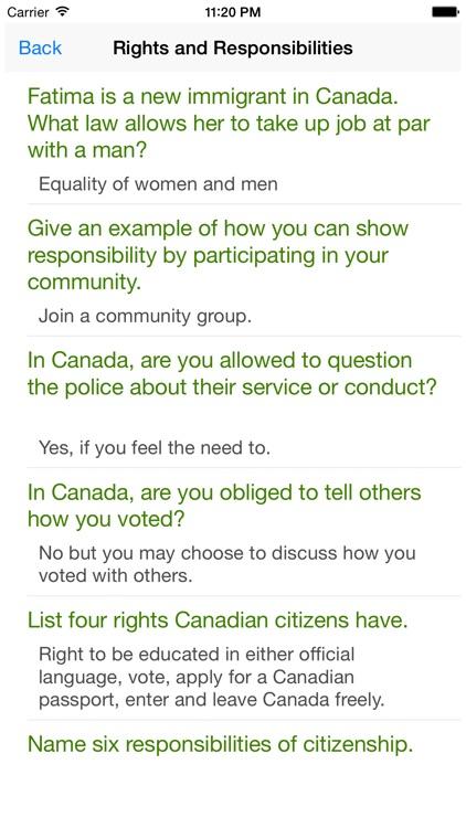Canadian Citizenship Test - Become Canadian screenshot-4