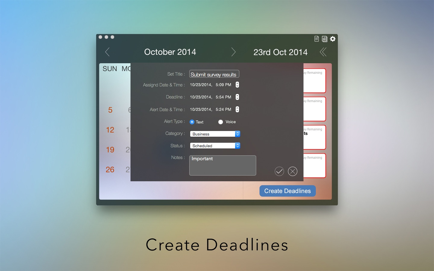 ‎Deadlines on the Mac App Store