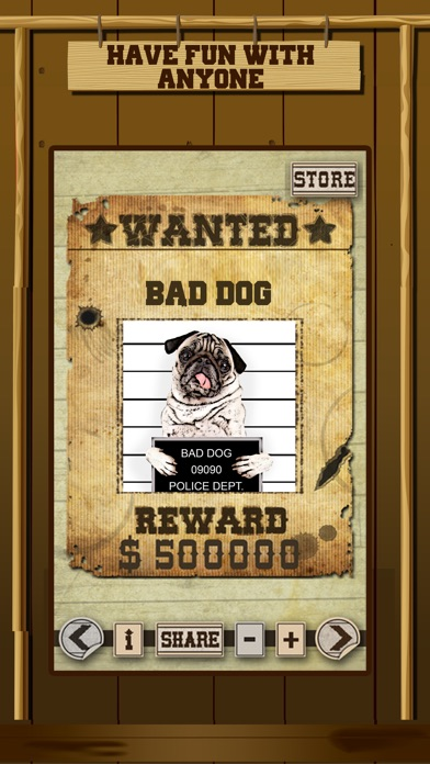 Wild West Wanted Poster Maker - Make Your Own Wild West Outlaw Photo Mug Shots screenshot three