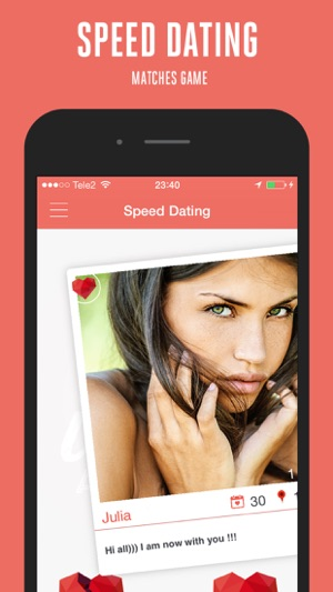 speed dating iphone