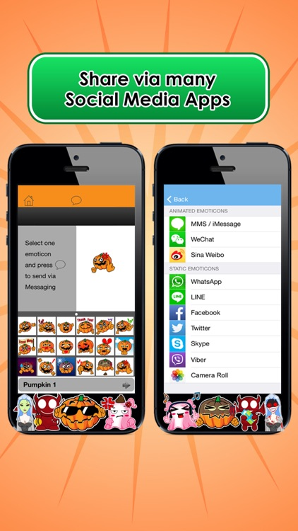 Emoji Kingdom 15 Free Pumpkin Halloween Emoticon Animated for iOS 8