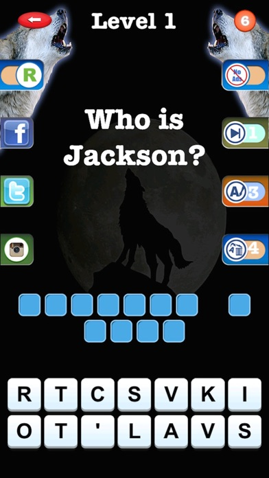 Trivia Quiz for Teen Wolf Fans Screenshot on iOS