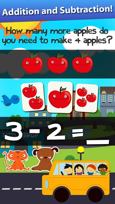 Screenshot #7 for Animal Math Games for Kids in Pre-K, Kindergarten and 1st Grade Learning Numbers, Counting, Addition and Subtraction Free