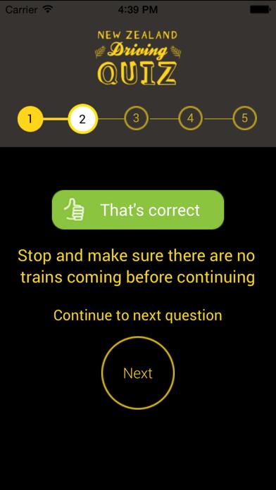 NZ Driving Quiz screenshot four