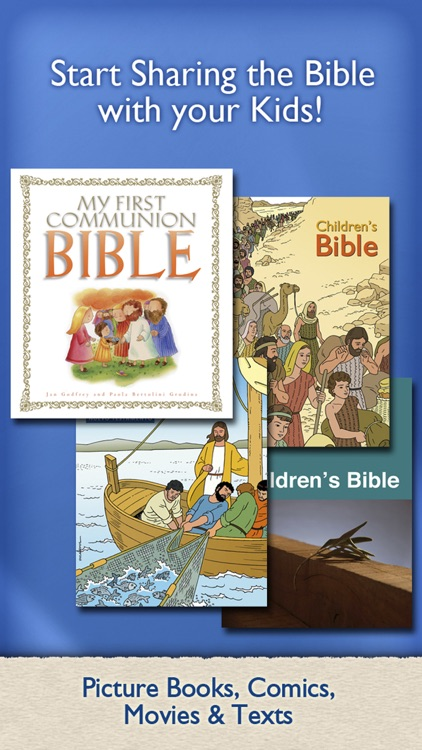 First Communion Bible – Stories, Comic Books & Movies to prepare the Holy Eucharist with your Kids, Christian Family and School screenshot-3