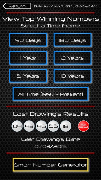 Powerball Smart Numbers screenshot-3
