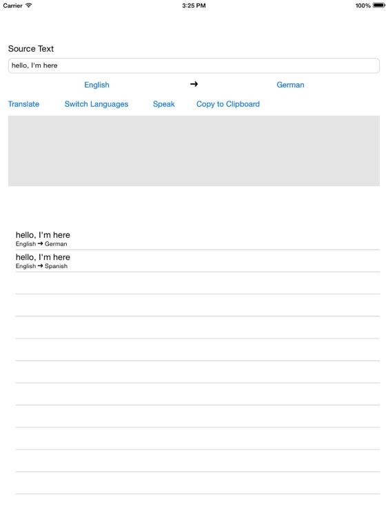 Free Translator for iPad