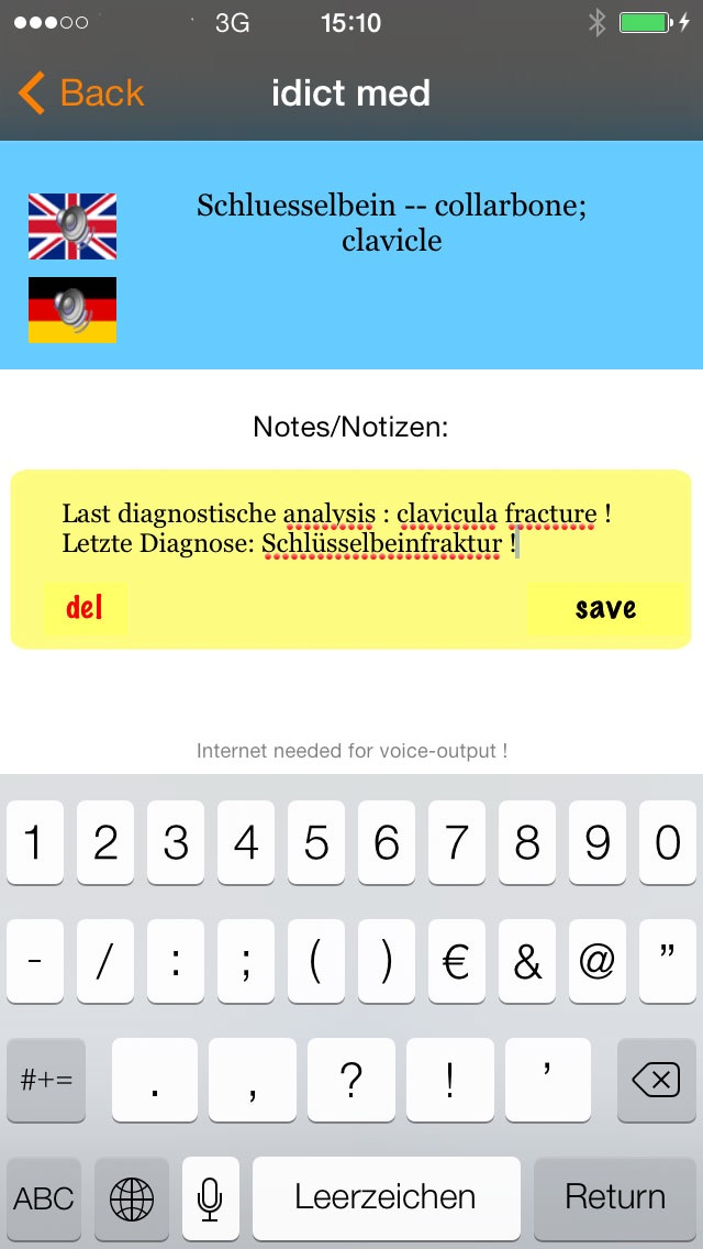 Screenshot for idict med dictionary in Germany App Store