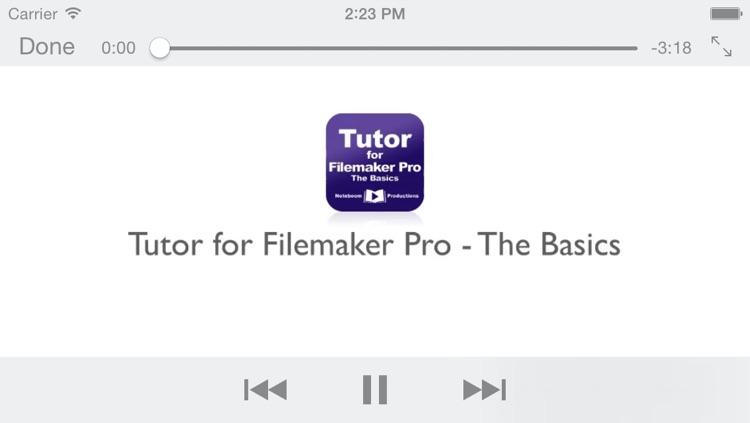 Tutor for Filemaker Pro - The Basics screenshot-3