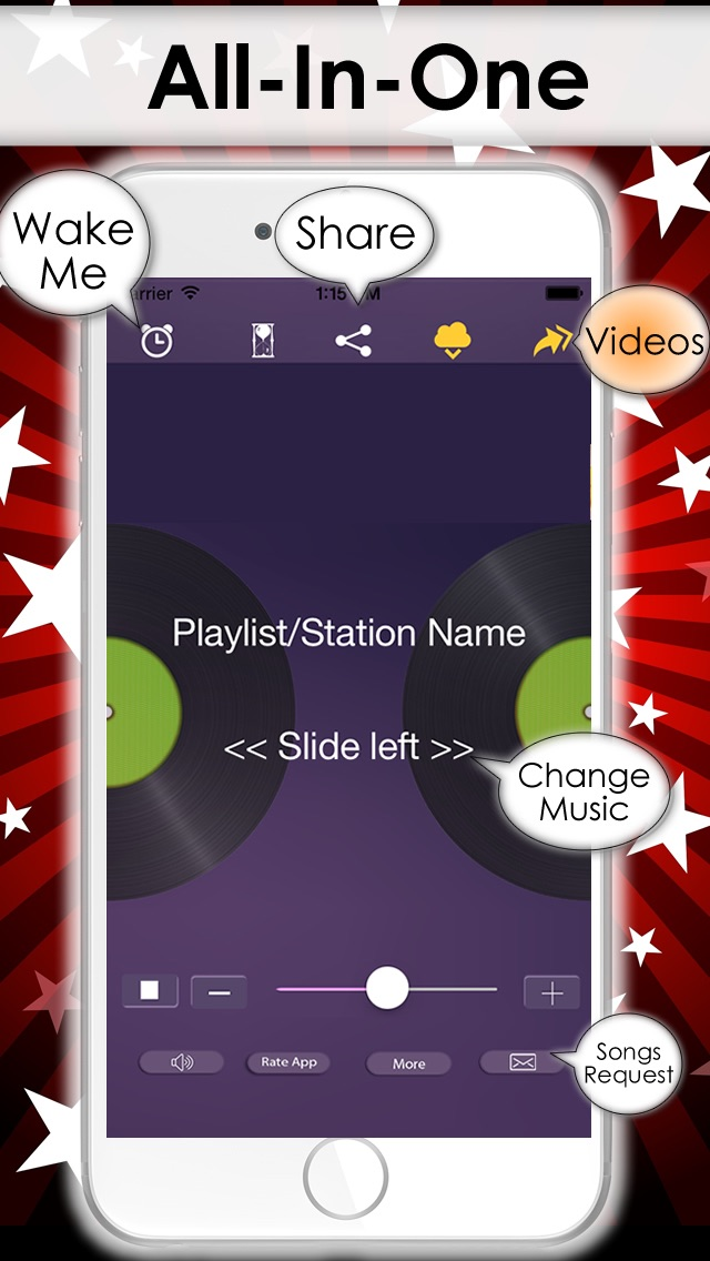 download Free Music Player on iPhone - MP3 streamer from the best online radio & DJ playlist apps 1