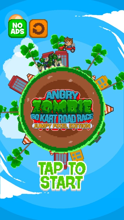 Angry Zombie Go Kart Road Race Free - Jumpy 8 Bit Pixel