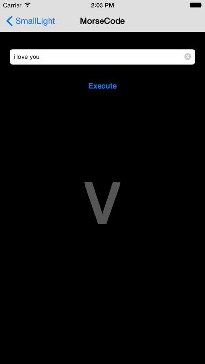 SmallLight (Morse Code LED) screenshot-4