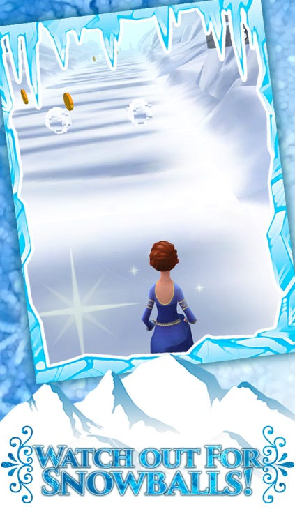 Frozen Princess Run 3D Infinite Runner Game For Girly Girls With New Fun Games FREE screenshot-4