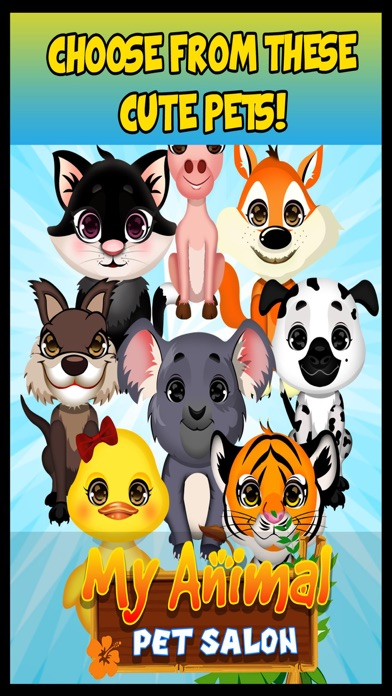 My Cute Pet Animal Fashion Salon & Spa - Free Makeover Games For Kids screenshot one