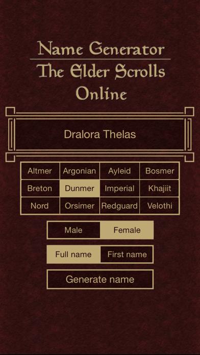 Name Generator for The Elder Scrolls Onlineのおすすめ画像4