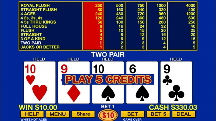 Video Poker plus HD screenshot-2