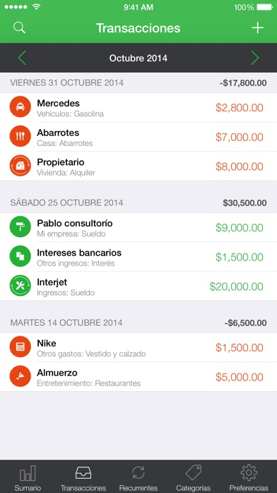 Screenshot for Mis Gastos in Mexico App Store