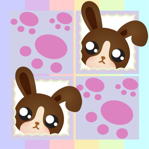 Play with Cute Baby Pets Chibi Memo Game for a whippersnapper and preschoolers