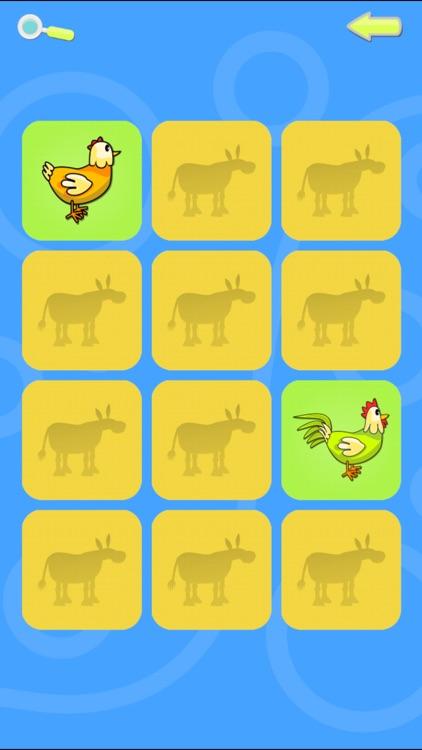 Preschool Memory Match - Farm and Jungle Animal Sounds by CarrotBits IKE