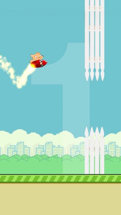 Flappy Rocket Cat - he's got a rocket to go after the bird! screenshot-3