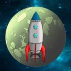 Rocket jump universe icon
