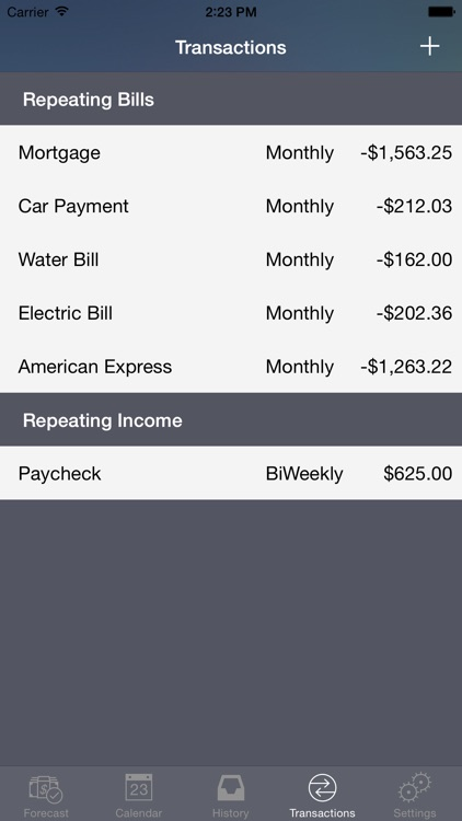 Cash Flow Cast - Personal finance expense tracker helping you manage your bills. screenshot-3