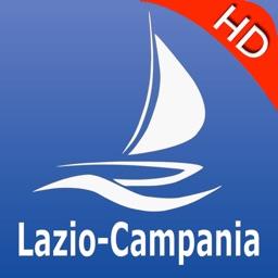 Lazio to Campania GPS Nautical charts pro